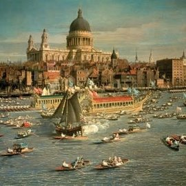 Wentworth houten puzzel - London,The Thames with View of the City of St.Paul - Canaletto (40 stukjes)