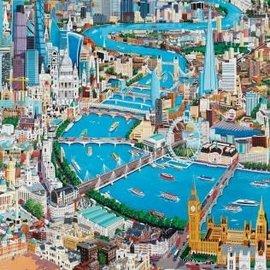 Wentworth Wentworth houten puzzel - London - The Thames - Christopher Rogers (40 stukjes)