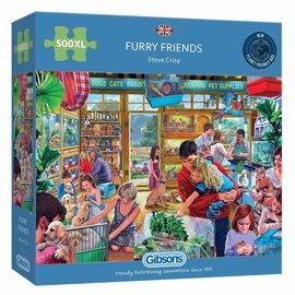 Gibsons Gibsons puzzel Furry Friends (500 XXL stukjes)