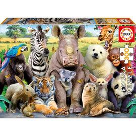 Educa Educa puzzel Dieren op de klassefoto (300 stukjes)