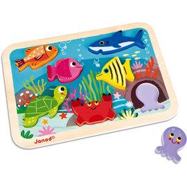 Janod Janod Chunky Puzzel - Onderwaterwereld