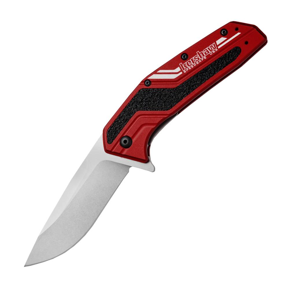 Kershaw Dash Assisted Red (3.5'' Stonewash N690), Folding Blade