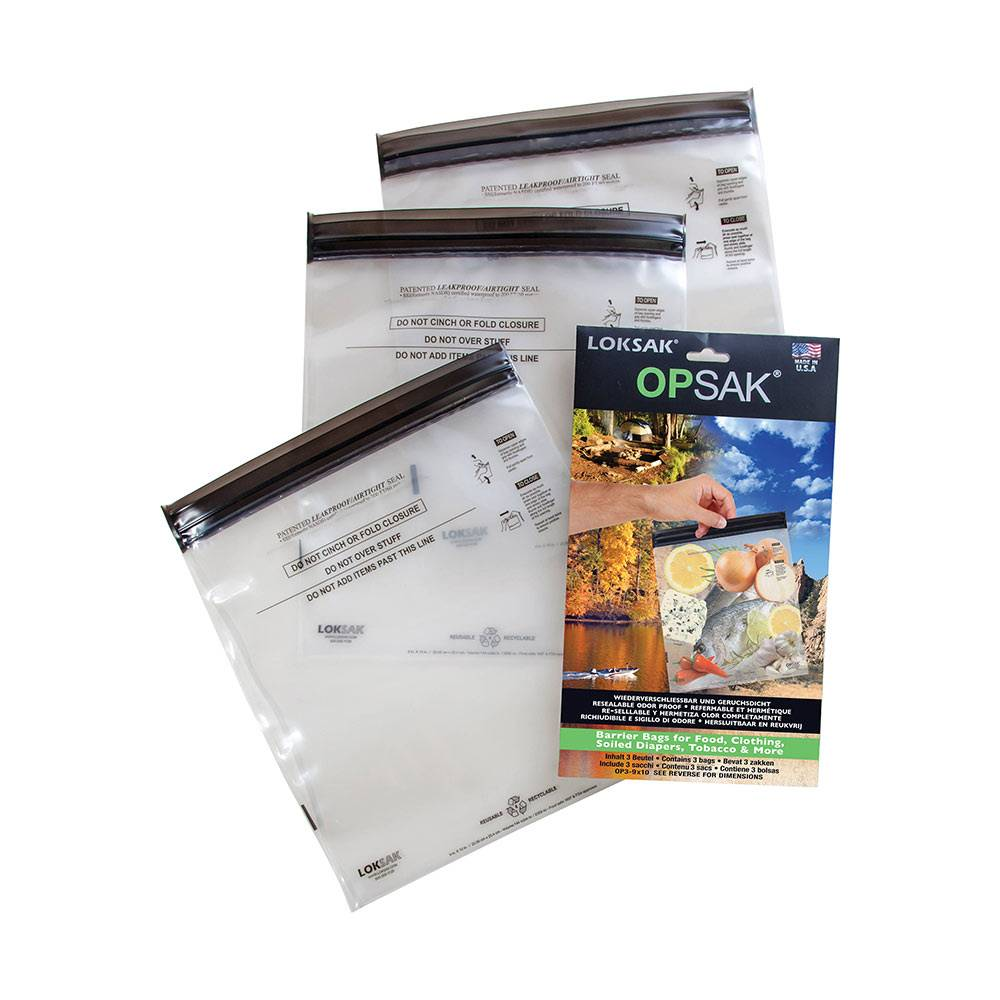 Loksak OPSAK Odor Proof Bags: Set of Two 9 x 10
