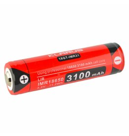 Klarus 3100 MA 18650 Rechargeable Lithium Ion Battery