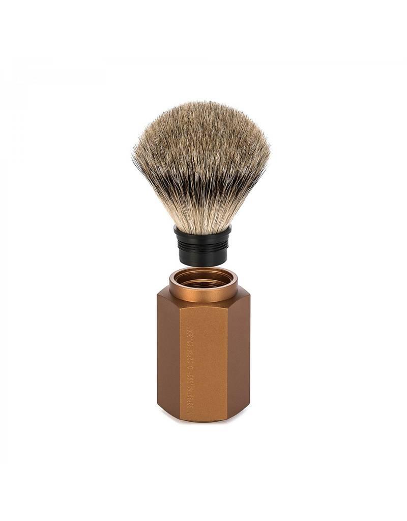 Mühle Hexagon, Bronze Silvertip Badger 3-Piece Shaving Set