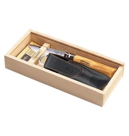 Opinel No 8 Stainless Olive Wood Handle w/ sheath Gift Box