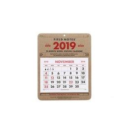 Field Notes 15-Month Workstation Calendar