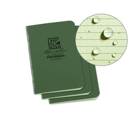 Rite in the Rain Mini Stapled Notebook Green