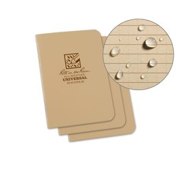 Rite in the Rain Mini Stapled Notebook Tan