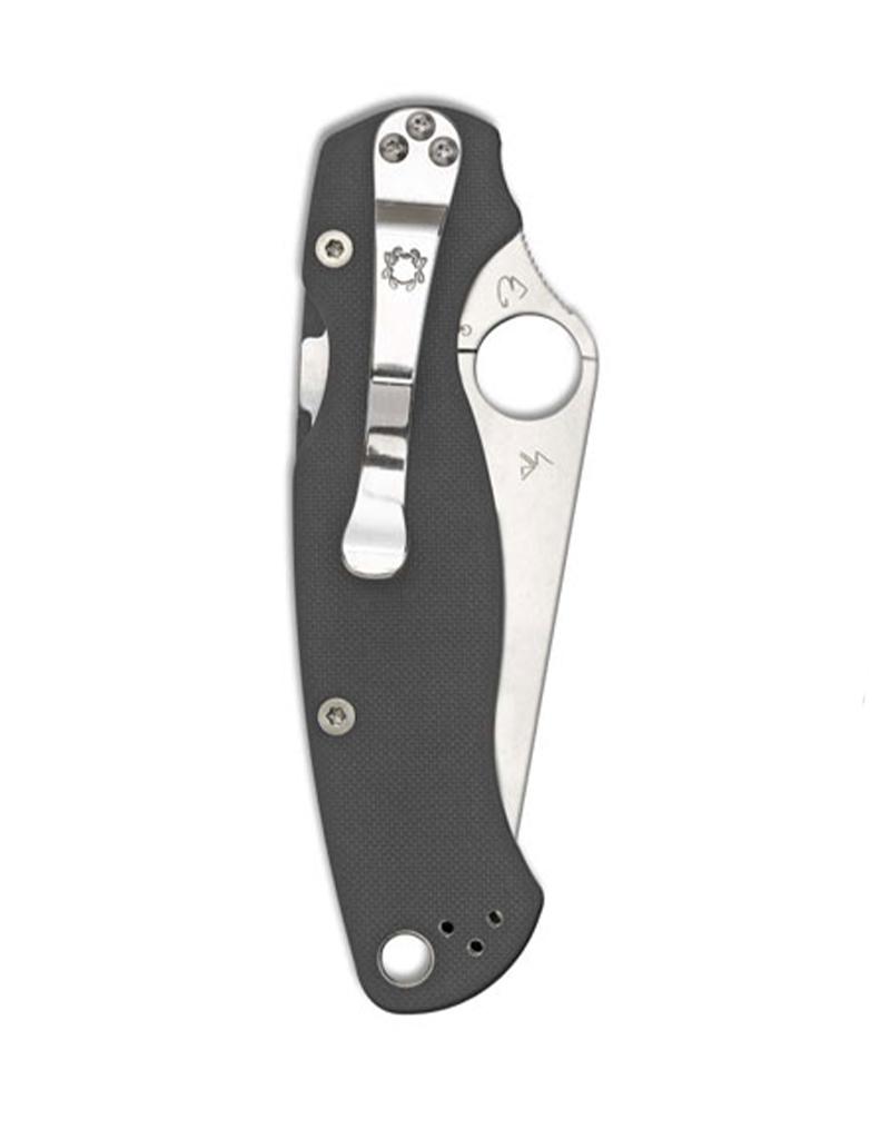 "Spyderco Paramilitary 2 Knife Dark Gray G-10 (3.47"" Satin Maxamet)"