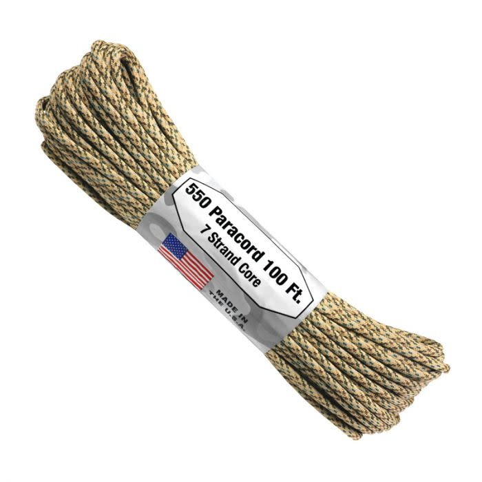Atwood 550 Paracord 100ft 7 Strand Core Desert
