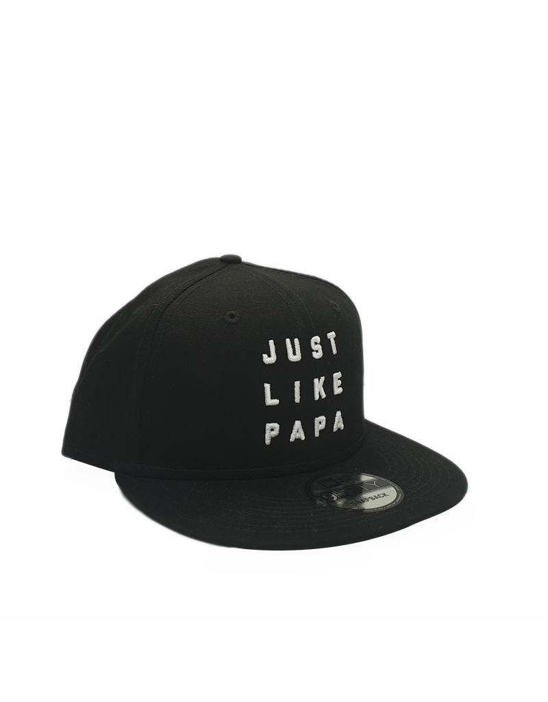 New Era Cap Co. Just Like Papa 9FIFTY Snapback White Text