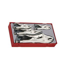 Teng Tools Plier Set Power Grip 5 Pieces TT Tray