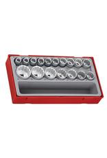 Teng Tools Socket Set 1/2'' Drive 12 Point 17 Pieces TT Tray