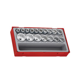 "Teng Tools Socket Set 1/2"" Drive 12 Point 17 Pieces TT Tray"