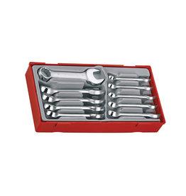 Teng Tools Metric Midget Combination 12 Piece Spanner Set TT Tray