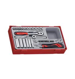 Teng Tools Socket Set 1/4'' Drive 35 Pieces TT Tray