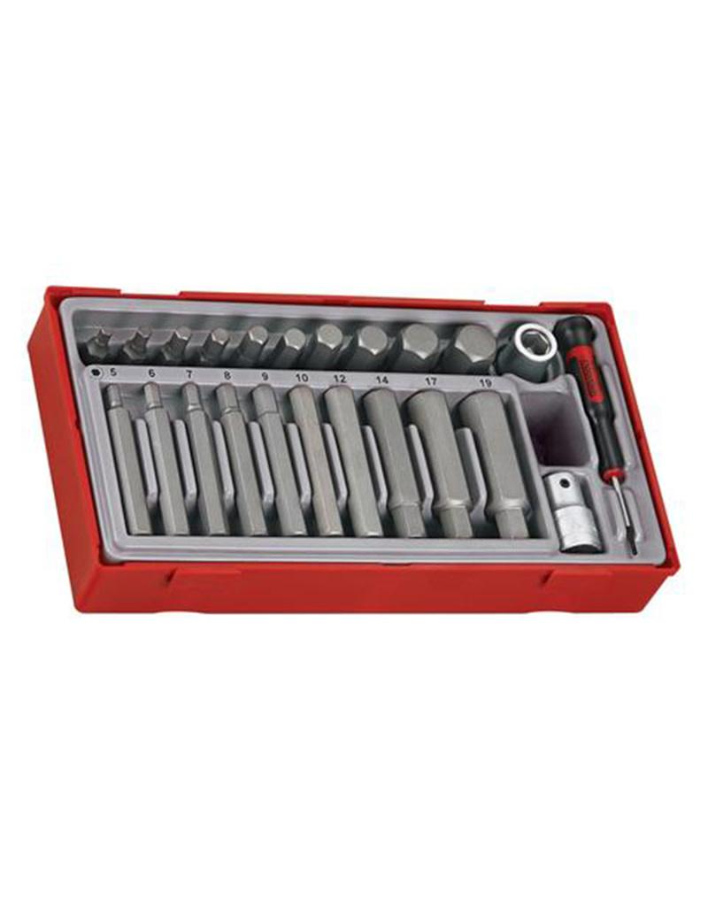 Teng Tools Socket Set 1/2'' Drive Hex Bit 23 Pieces TT Tray