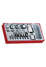 Teng Tools Socket Adaptor Set 17 Pieces TT Tray