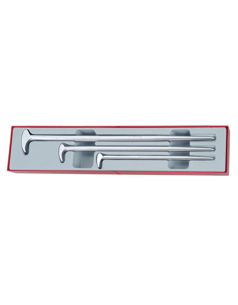 Teng Tools Pry Bar Set Roll/Heel 3 Pieces TTX Tray