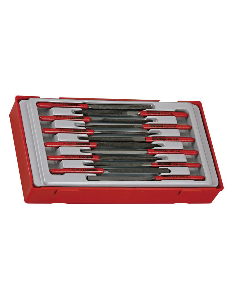 Teng Tools File Set Needle Type 12 Pieces TT Tray