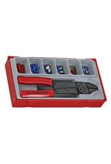 Teng Tools Crimping Plier Set 121 Pieces TT Tray