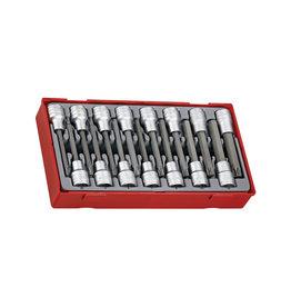 Teng Tools Socket Set 1/2'' Drive Hex/TX Bit 15 Pieces TT Tray