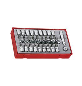 Teng Tools Socket Set 3/8'' Drive 30 Pieces TT Tray