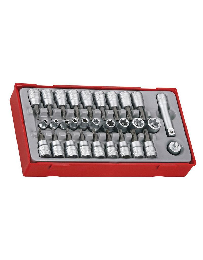 """Teng Tools Socket Set 3/8"""" Drive 30 Pieces TT Tray"""