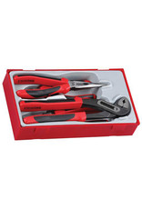 Teng Tools Plier Set TPR Grip 4 Pieces TT Tray