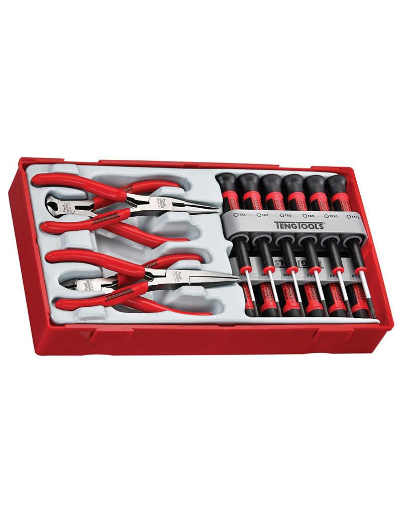 Teng Tools Screwdriver and Plier Set 16 Pieces TT Tray