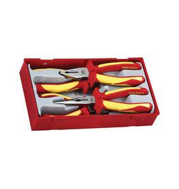 Teng Tools Plier Set 1000 Volt 4 Pieces TT Tray