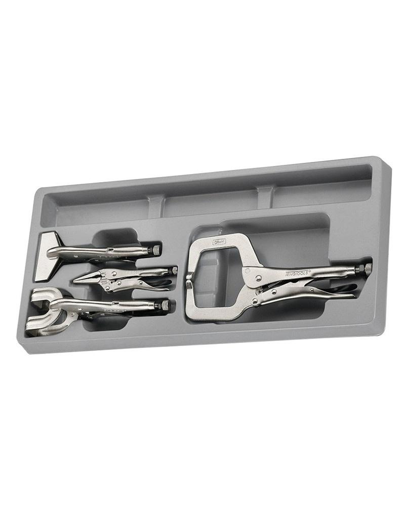 Teng Tools Plier Set Power Grip Welding 4 Pieces TTPS Tray
