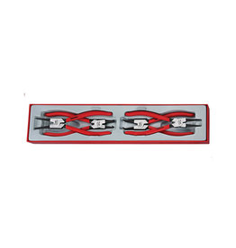 Teng Tools Plier Set 9 inch Circlip 4 Pieces TTX Tray