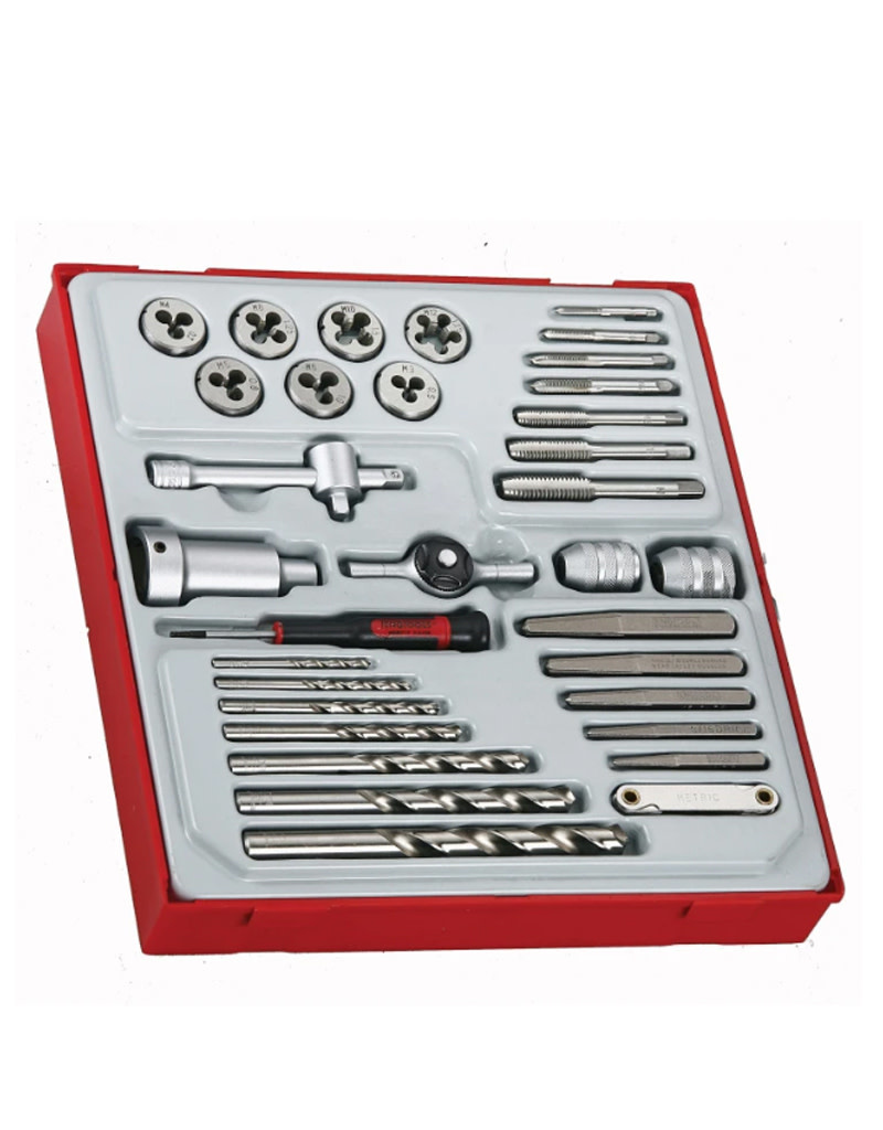Teng Tools Tap and Die Set 34 Pieces TTD Tray