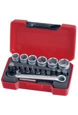 "Teng Tools Socket Set 1/4"" Drive Metric 19 Pieces"