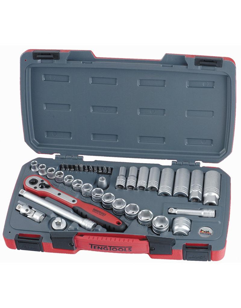 Teng Tools Socket Set 3/8in Drive MM 39 Pieces