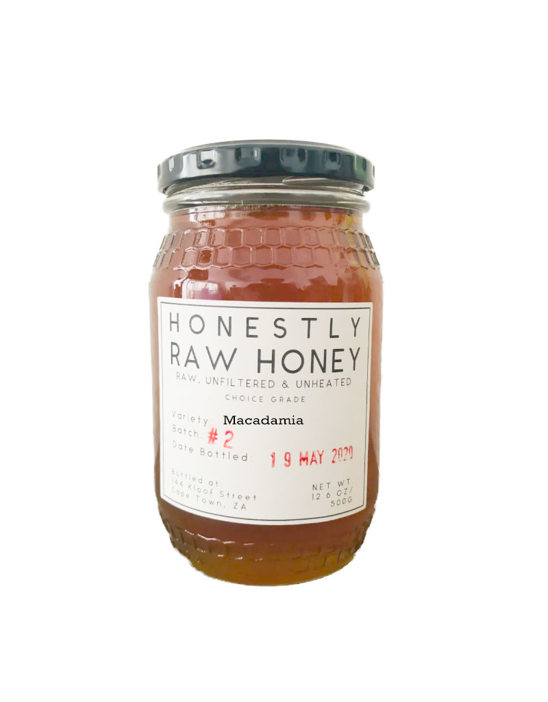 Honestly Raw Honey Macadamia Honey 500g