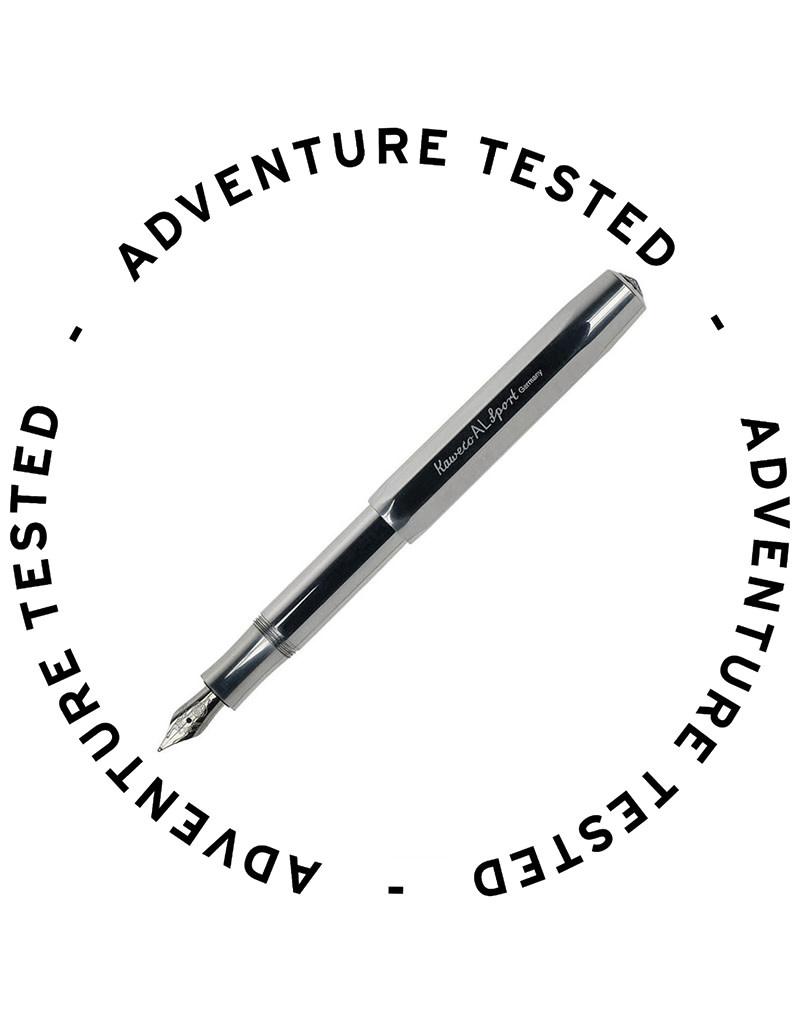 Kaweco AL Sport Fountain Pen Raw Medium - Adventure Tested