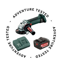 Adventure Tested Metabo Cordless Angle Grinder (includes Charger & Battery) - Adventure Tested