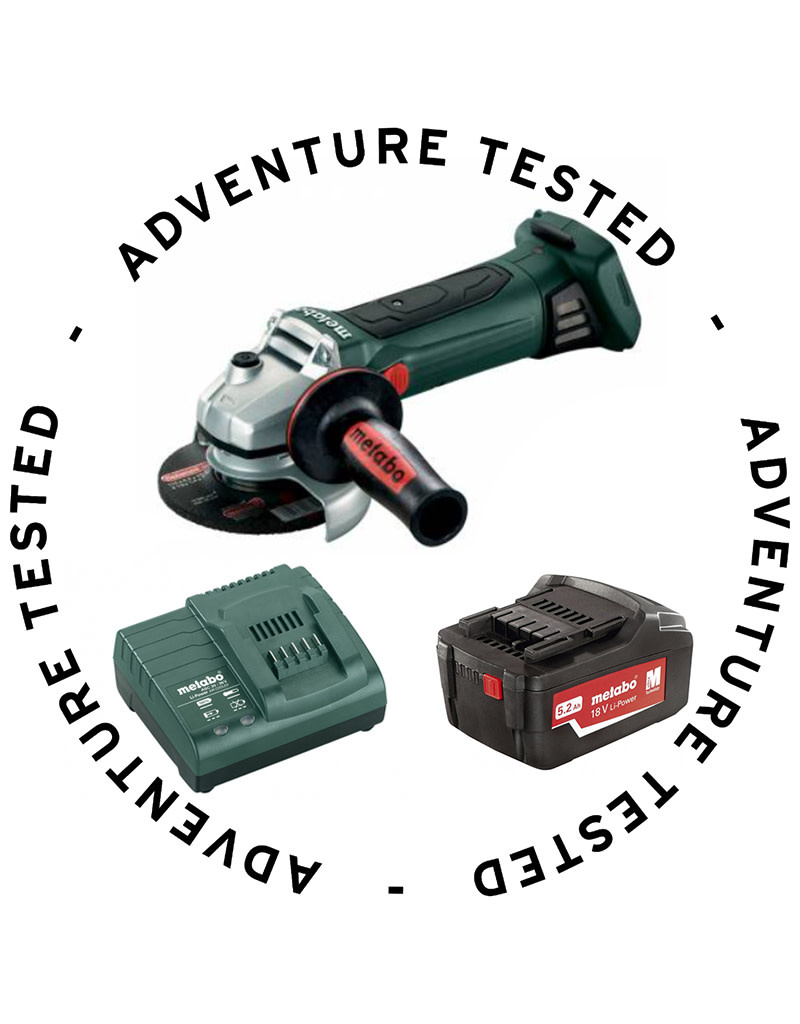 Metabo Cordless Angle Grinder (includes Charger & Battery) - Adventure Tested