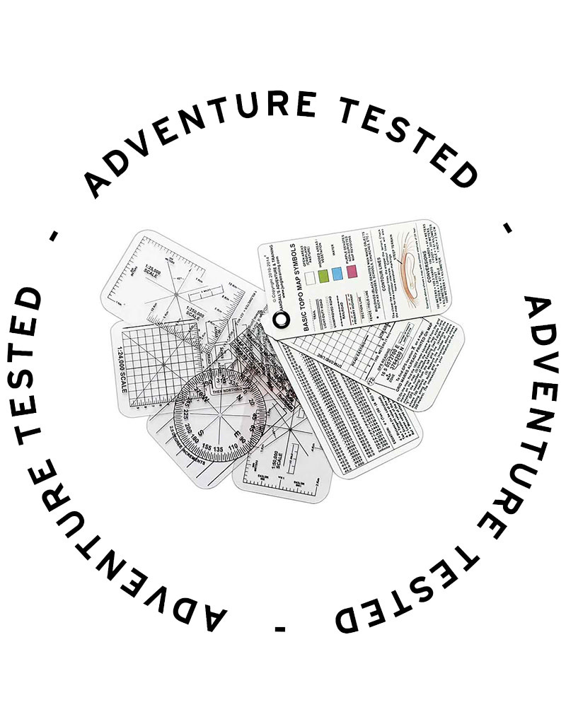 Esee Compass Cards 7 Card Set (3 White 4 Clear Cards) - Adventure Tested