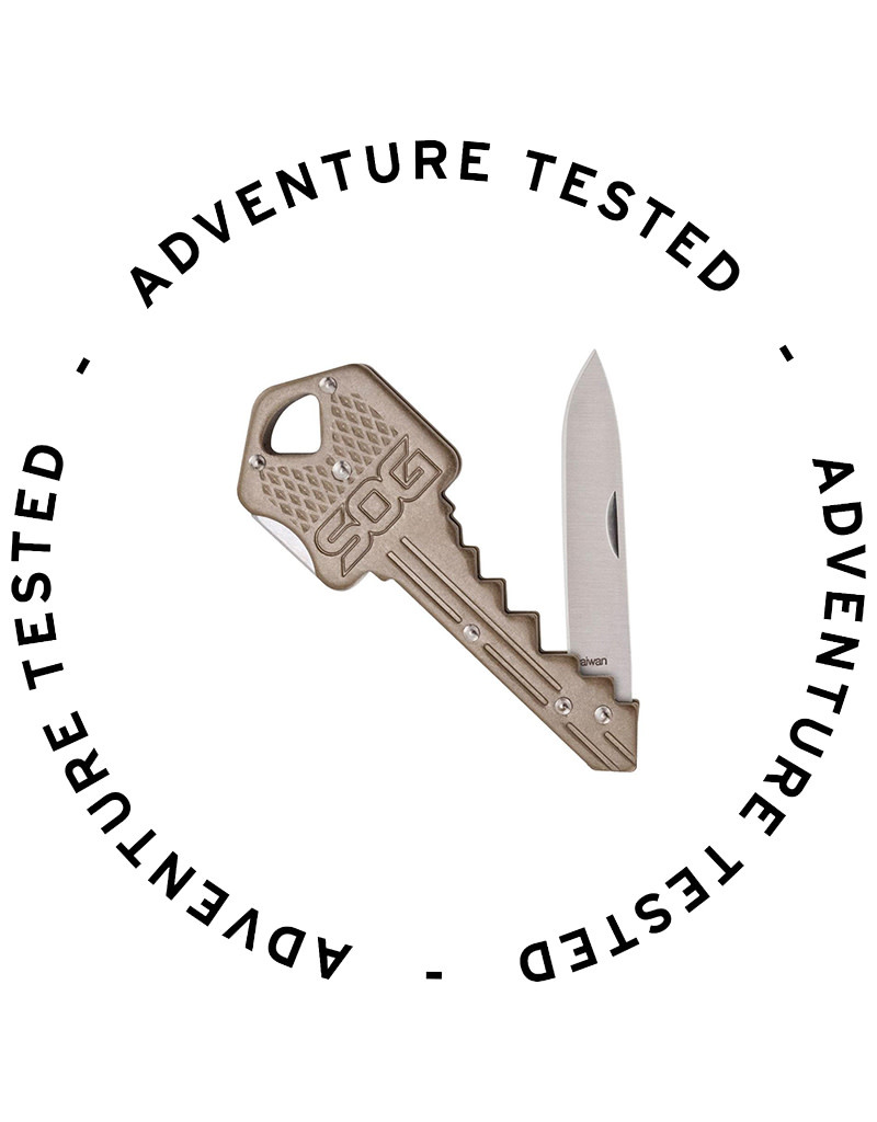 SOG Specialty Knives Key Knife - Brass - Adventure Tested