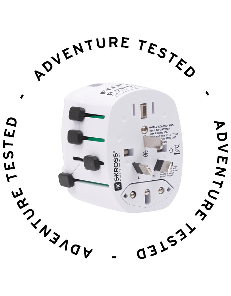 Fujifilm World Travel Adapter PowerSafe Earthed - Adventure Tested