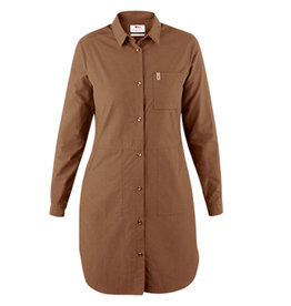 Ovik Shirt Dress W Dark Sand M