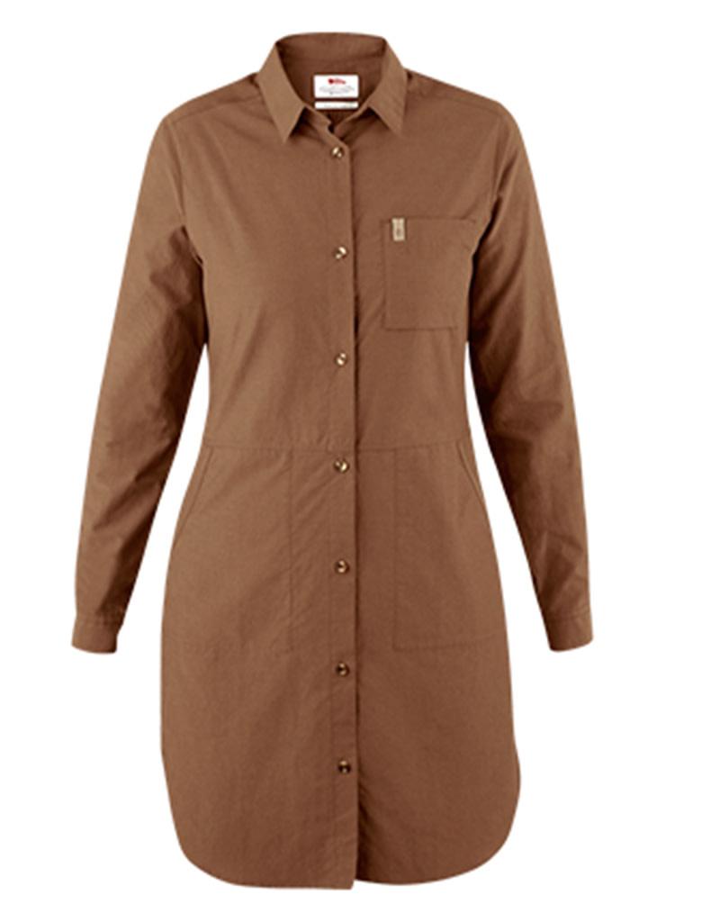 Fjallraven Ovik Shirt Dress W Dark Sand M