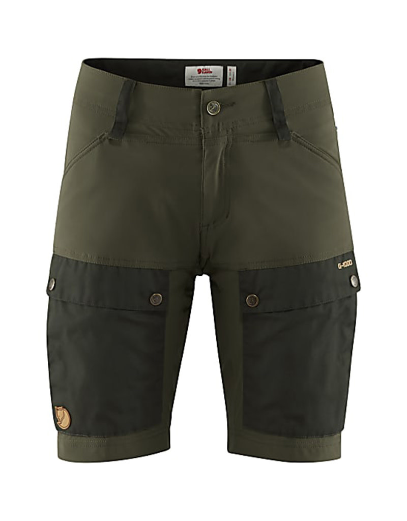 Fjällräven Keb Shorts W Deep Forest-Laurel Green 40