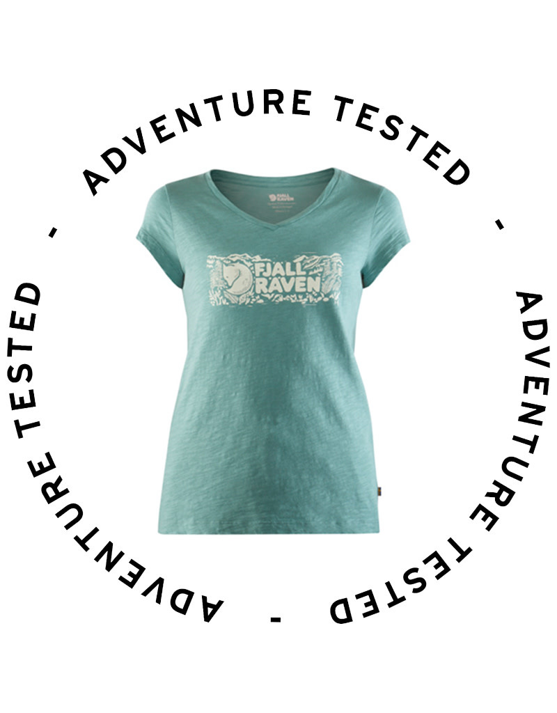 Logo Stamp T-shirt W Lagoon XS - Adventure Tested