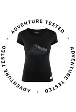 Keb Wool T-shirt Print W Black S- Adventure Tested