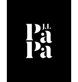 Just Like Papa White Logo 6cm x 8cm